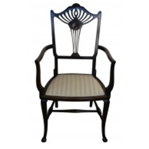 Edwardian mahogany elbow chair/williamsantiques