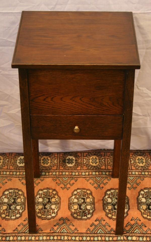 Oak work/ side table