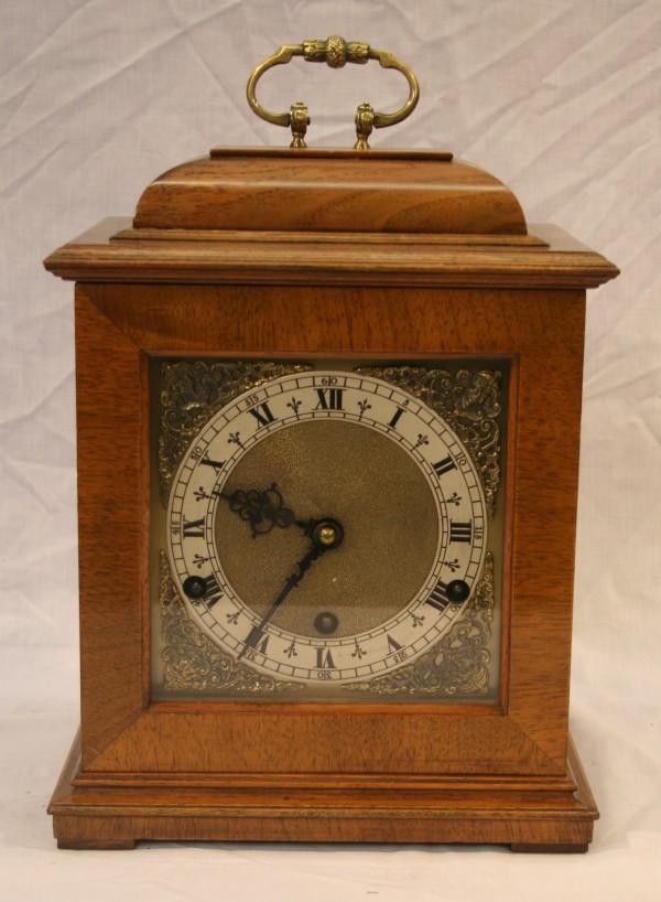 Walnut bracket clock