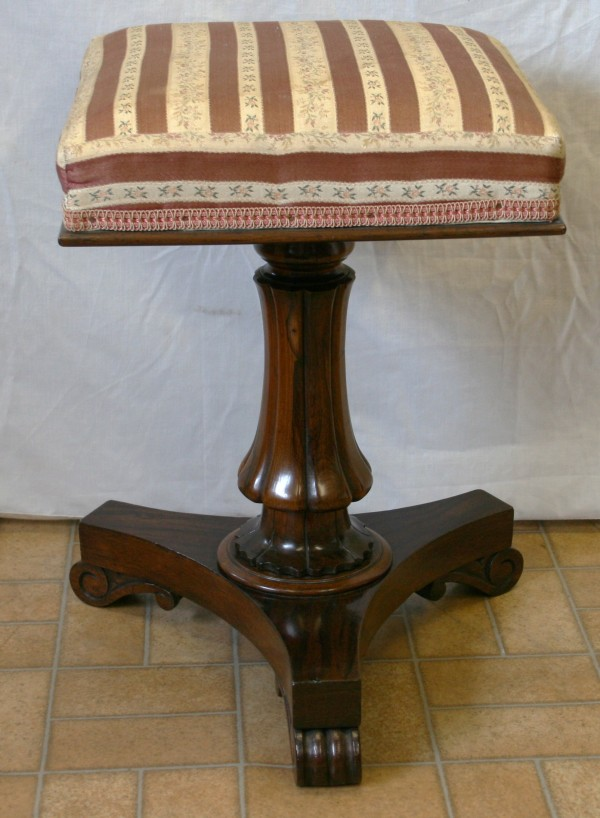 William IV rosewood piano stool