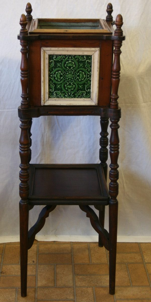 A Victorian pine and birch jardinière