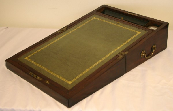 A late Georgian mahogany writing slope