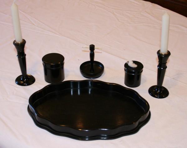 Ebony dressing table set