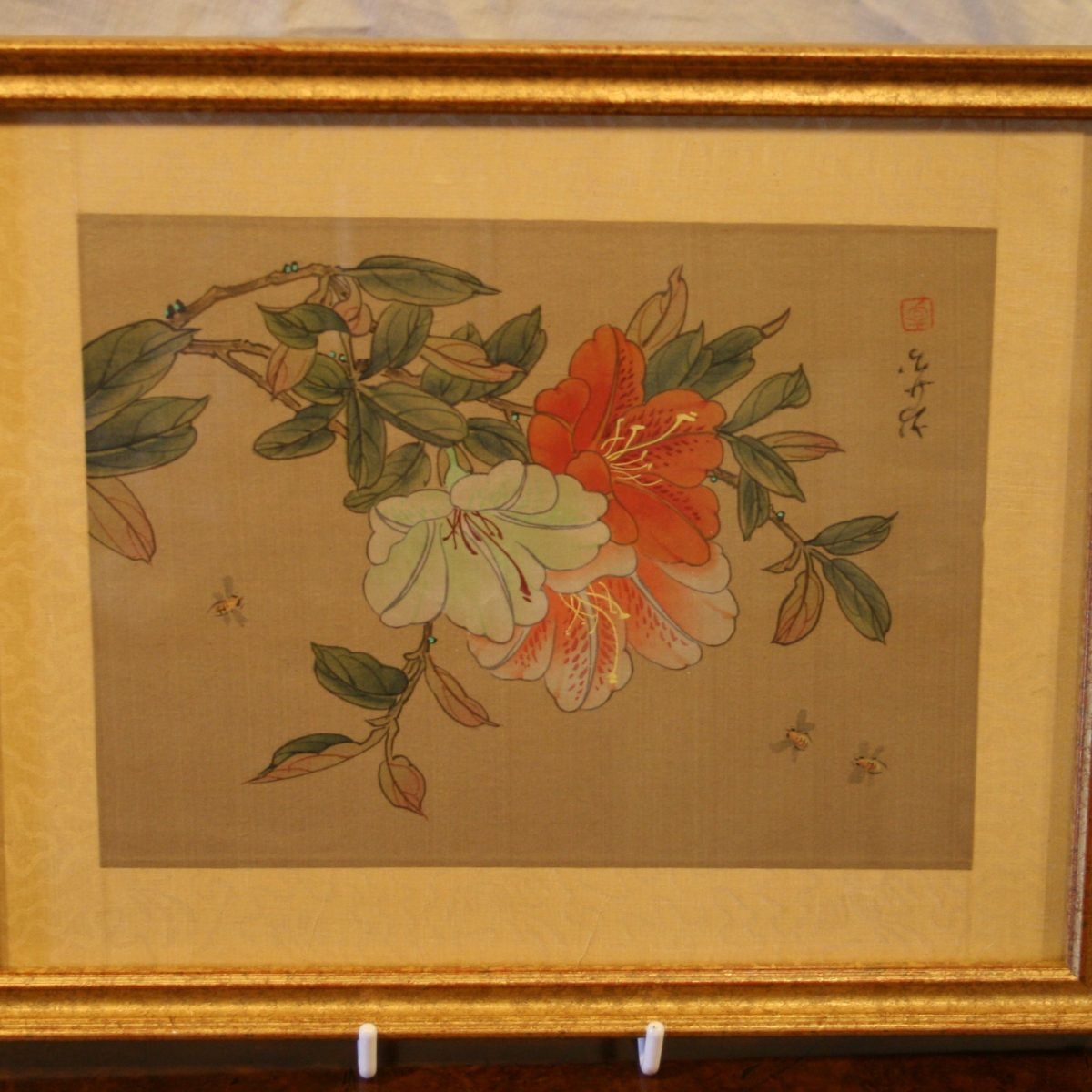 Japanese picture on silk/williamsantiques