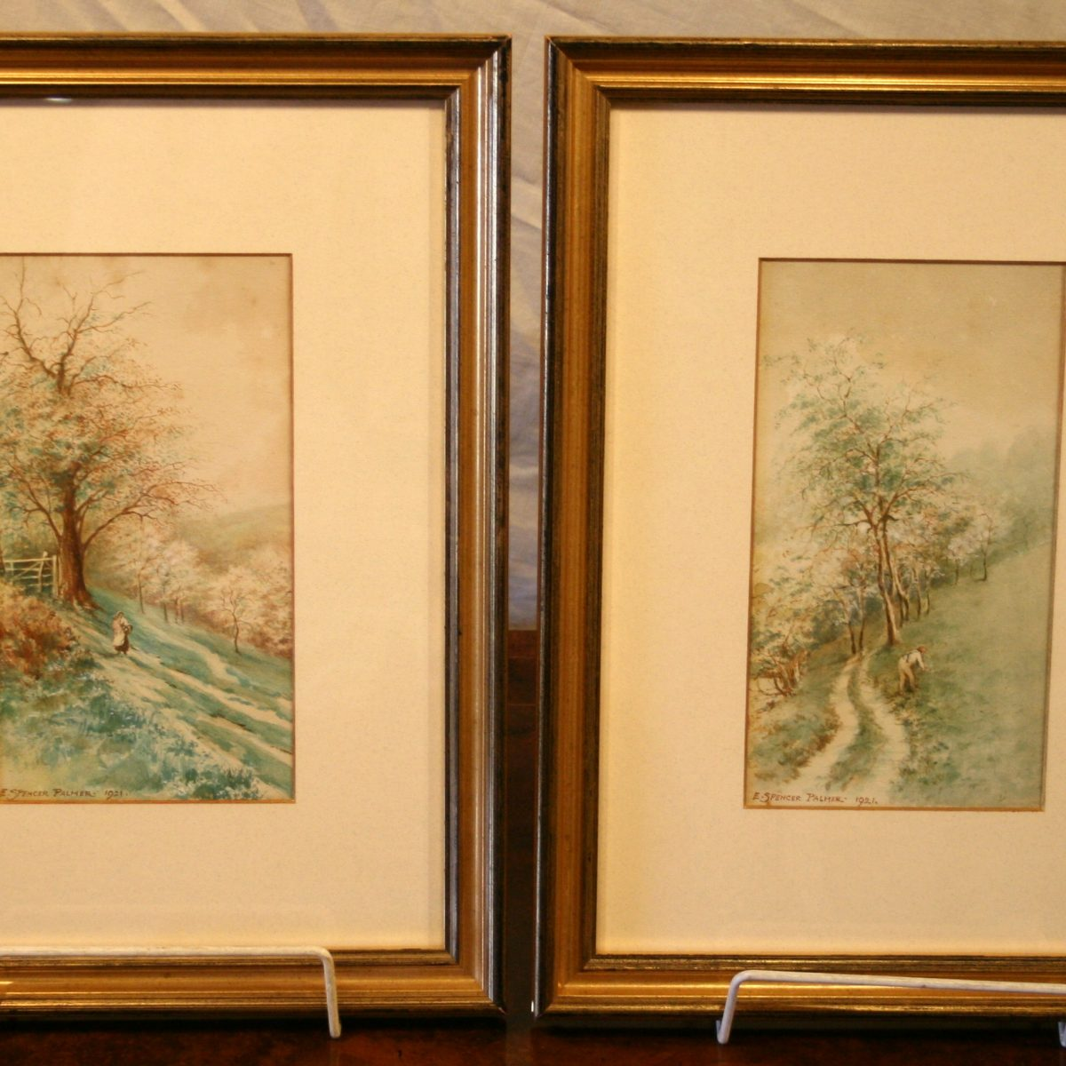 watercolours of woodland/williamsantiques