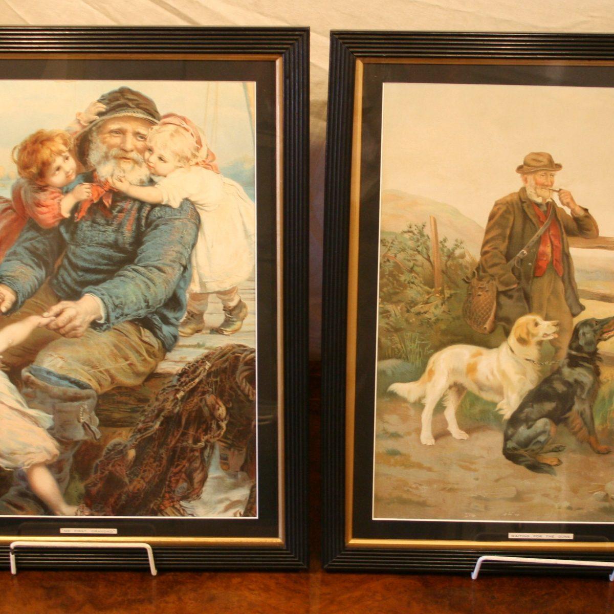 Victorian prints of a fisherman/williamsantiques
