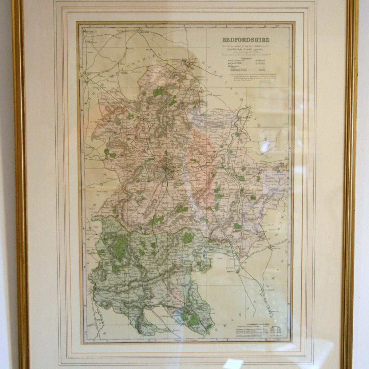 map of bedfordshire/wiliamsantiques