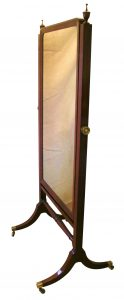 A Regency mahogany cheval mirror/williamsantiques