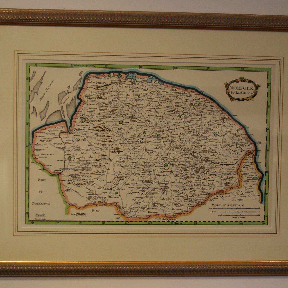 coloured print of Norfolk/williamsantiques
