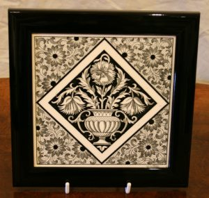 Mintons aesthetic movement tile/williamsantiques