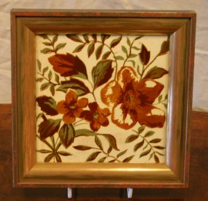 Victorian floral printed tile/williamsantiques