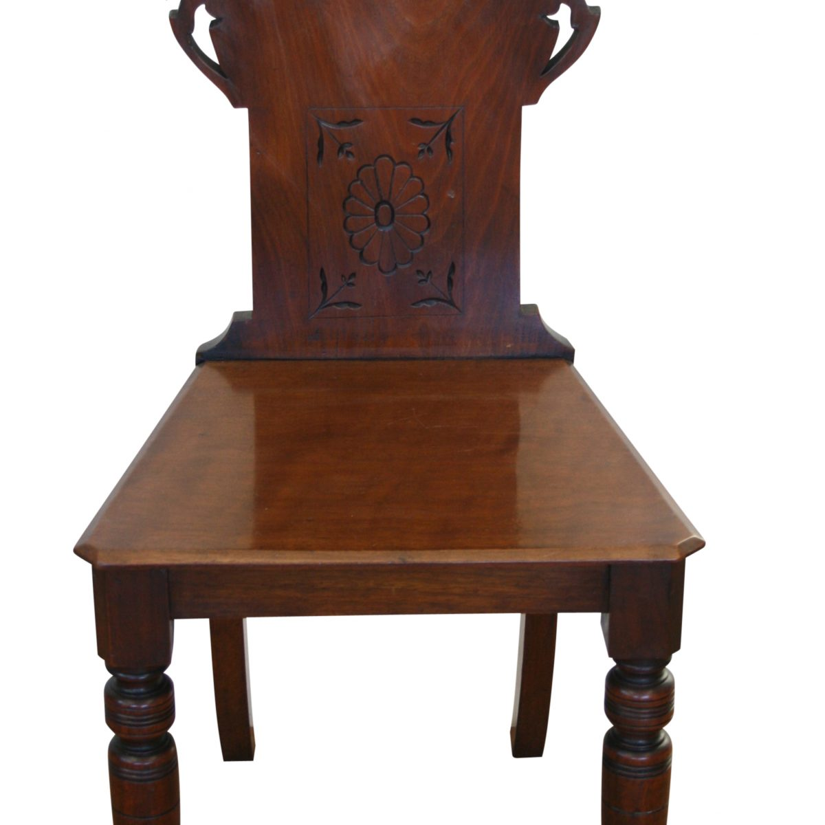 Edwardian black walnut chair/williamsantiques