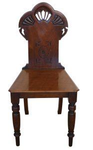 Edwardian black walnut chair/williamsantiques