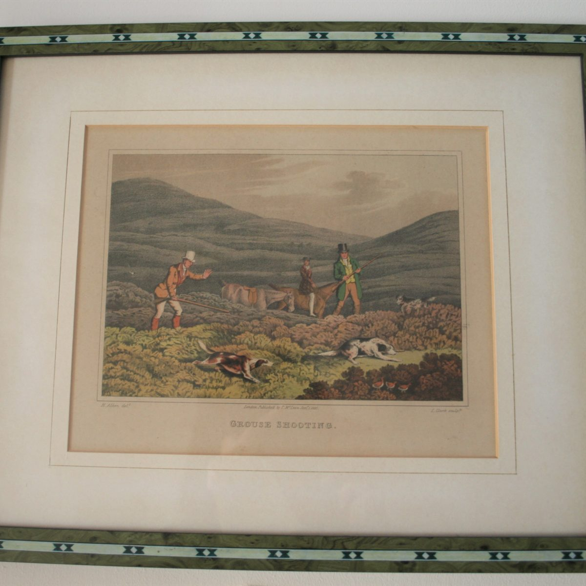 copperplate of grouse shooting/williamsantiques
