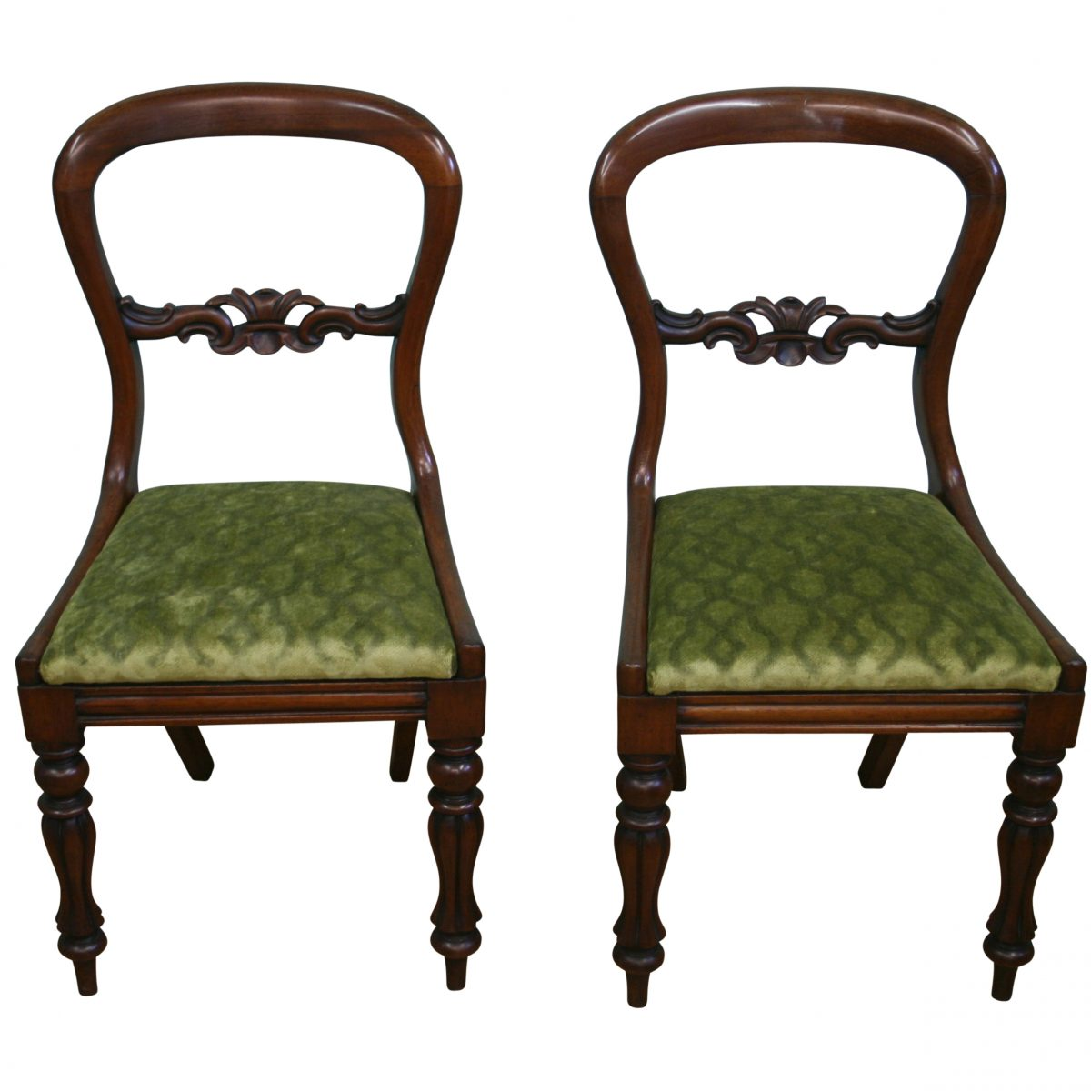 Victorian balloon back side chairs/williamsantiquesbedford