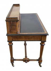 Victorian Burr Walnut writing desk/williamsantiques
