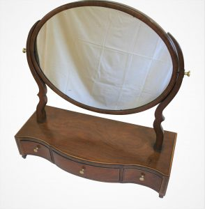 Oval mahogany toilet mirror/wiliamsantiques