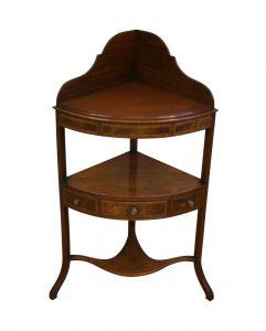A Georgian mahogany corner washstand/williamsantiques