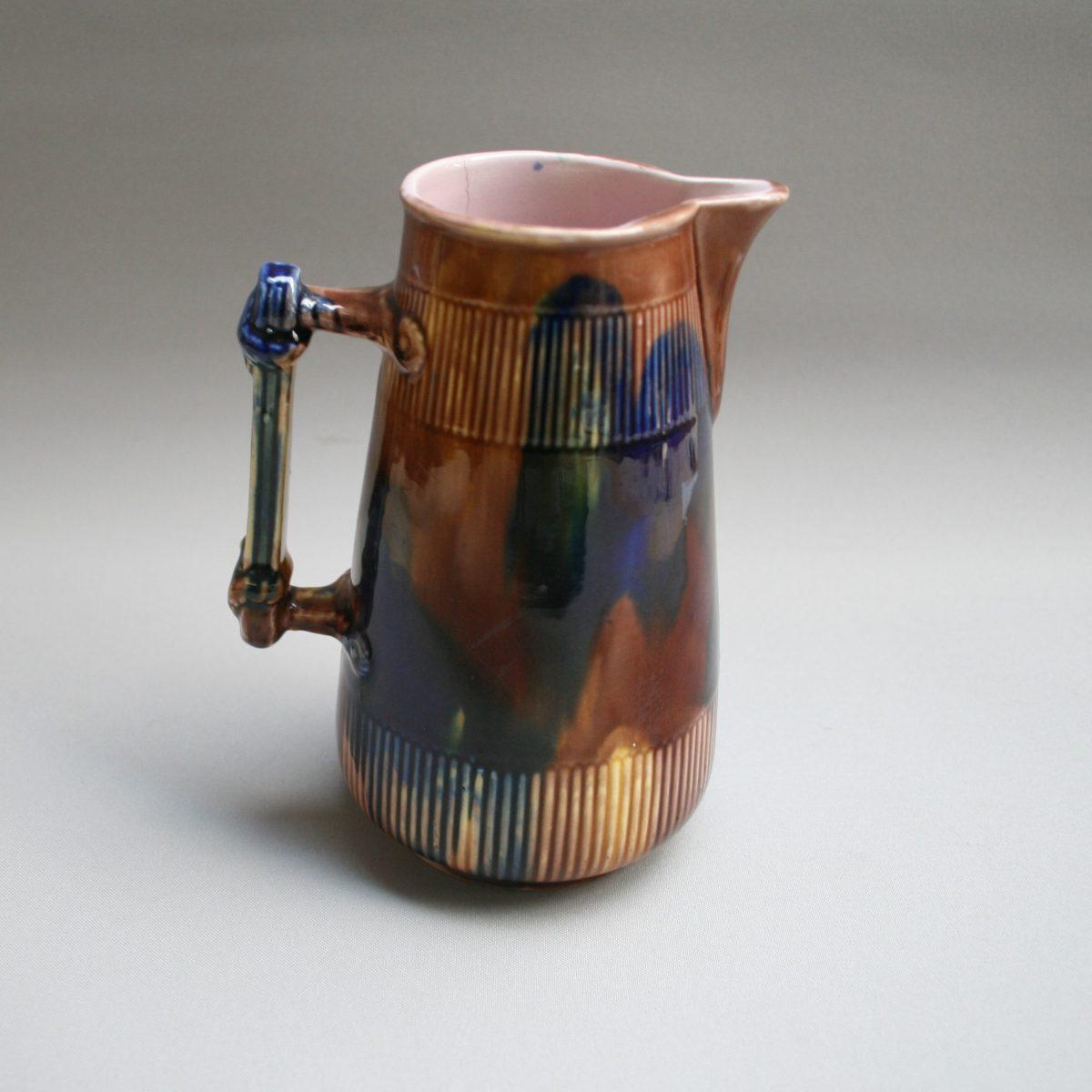 colourful pottery jug/williamsantiques