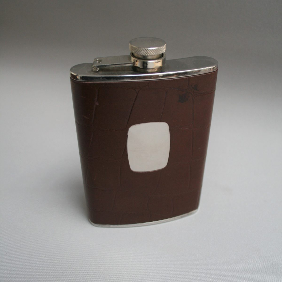 stainless steel 8oz hip flask/williamsantiques