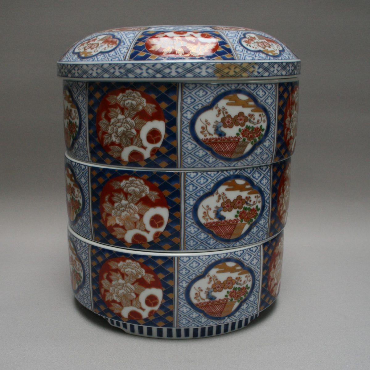 three tiered Chinese food storage box/williamsantiques