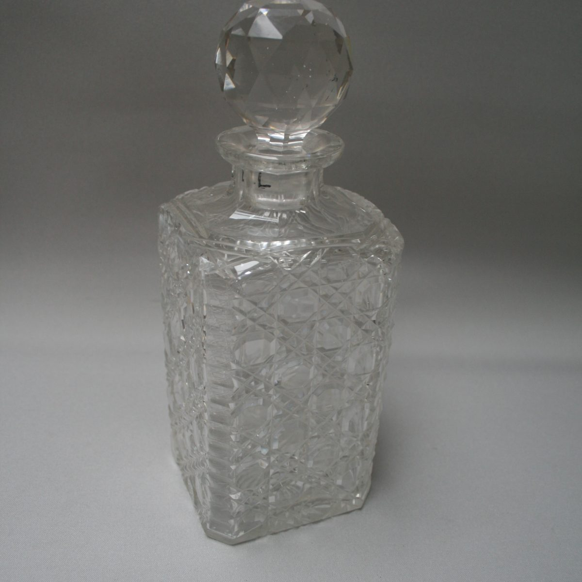 Victorian Hobnail cut glass decanter/williamsantiques