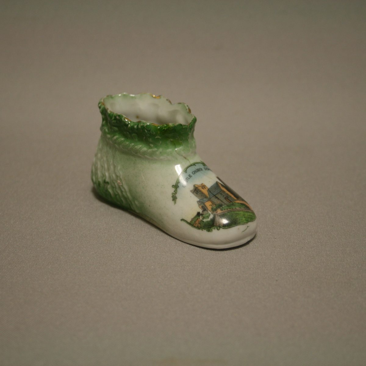 Staffordshire pottery child's bootie/williamsantiques