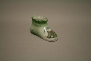 Staffordshire pottery child's bootie/williamsantiques