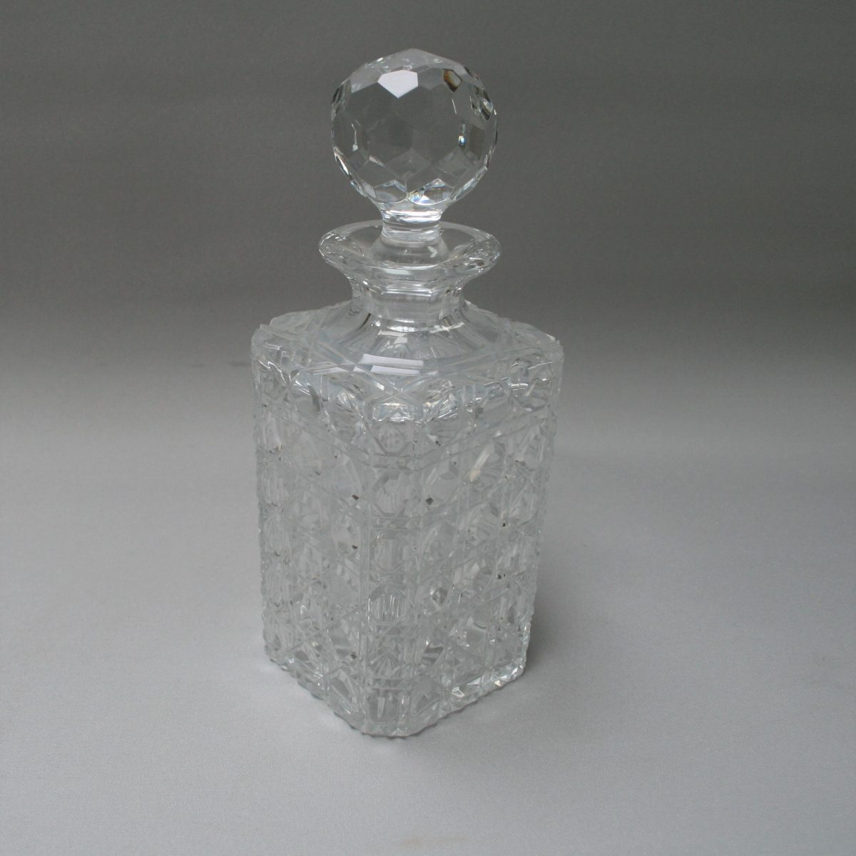 Edwardian Hobnail cut glass decanter