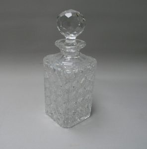 Edwardian Hobnail cut glass decanter