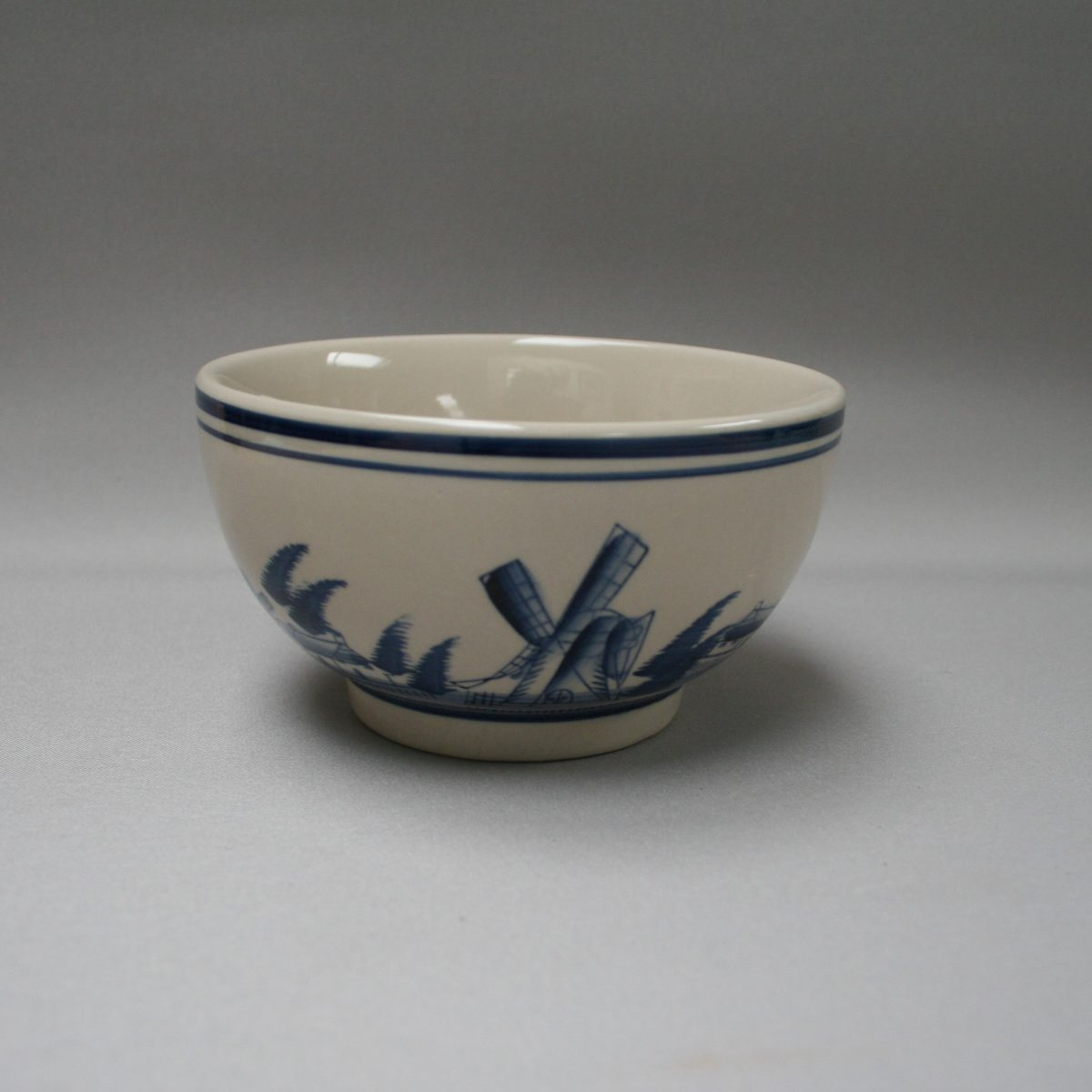 pottery bowl with cream and blue colouring