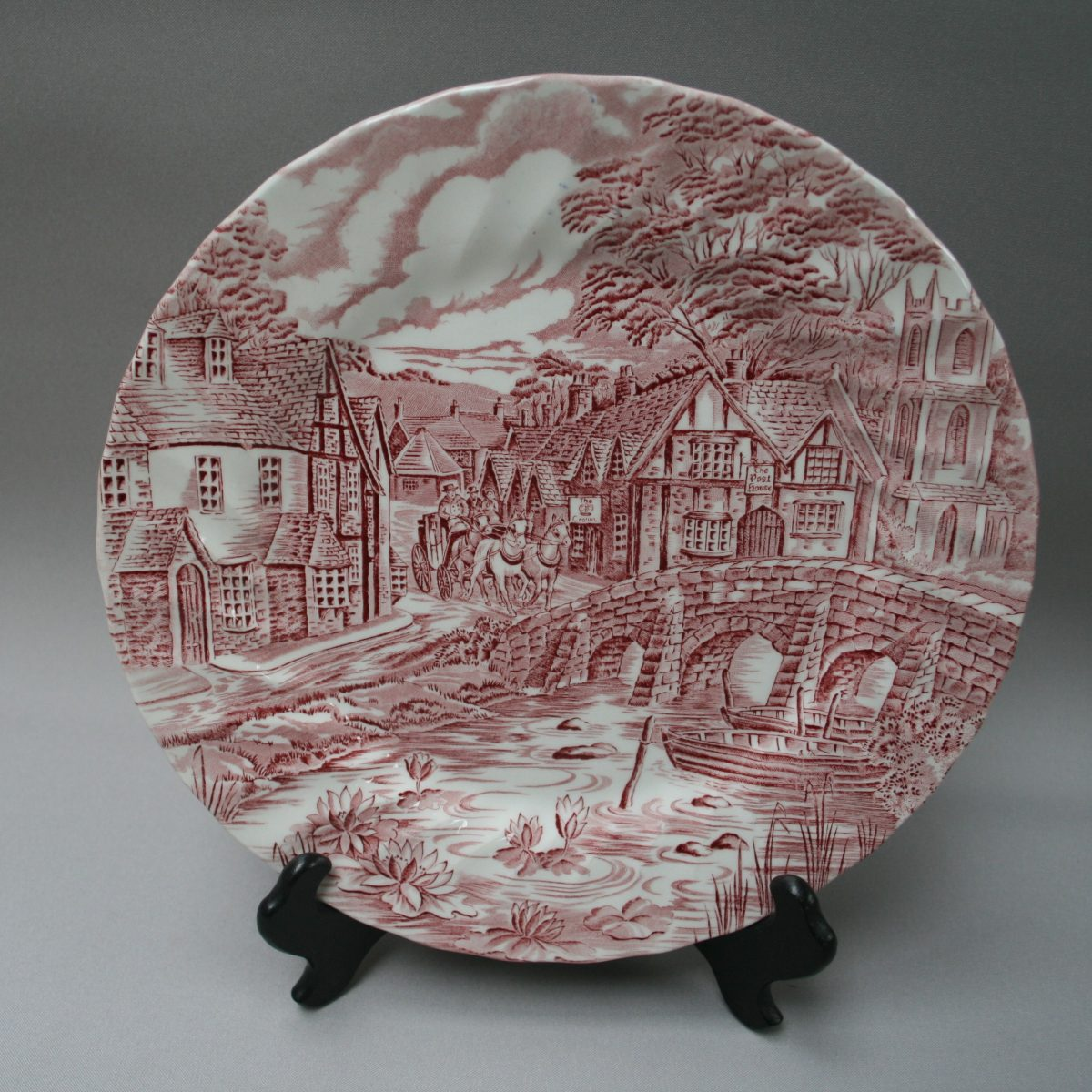 plate titled 'The Post House' by Alfred Meakin/williamsantiques