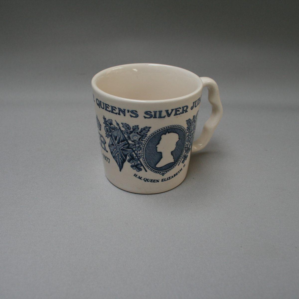 Mason's Silver Jubilee commemorative mug/williamsantiques