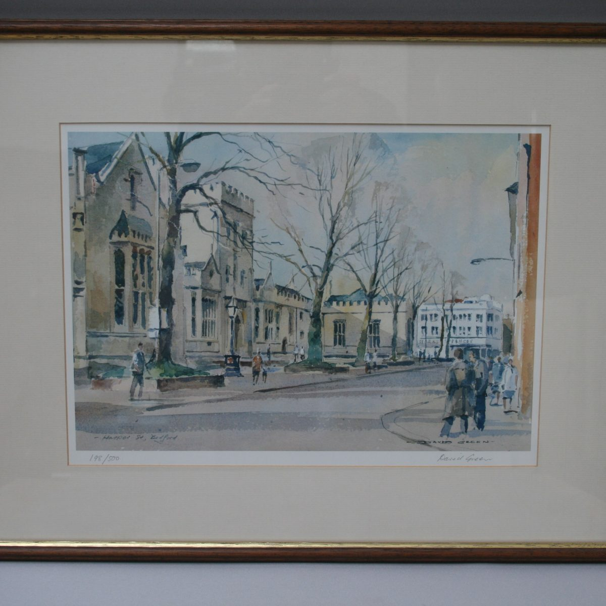David Green print of Harper Street in Bedford