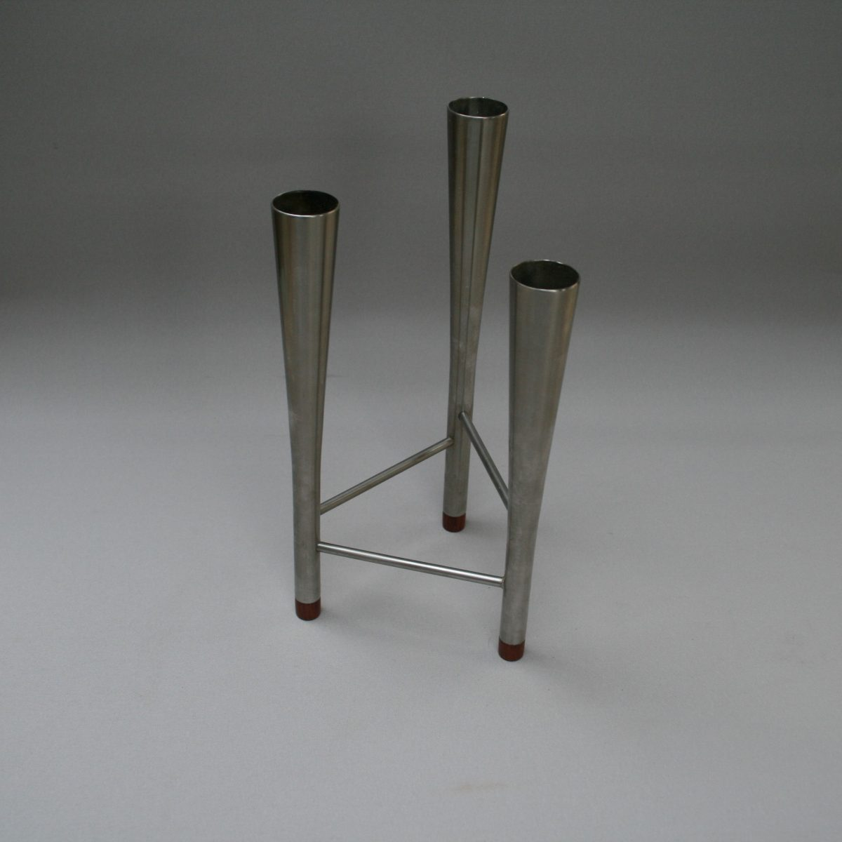Robert Welch triple candle holder in stainless steel/williamsantiques