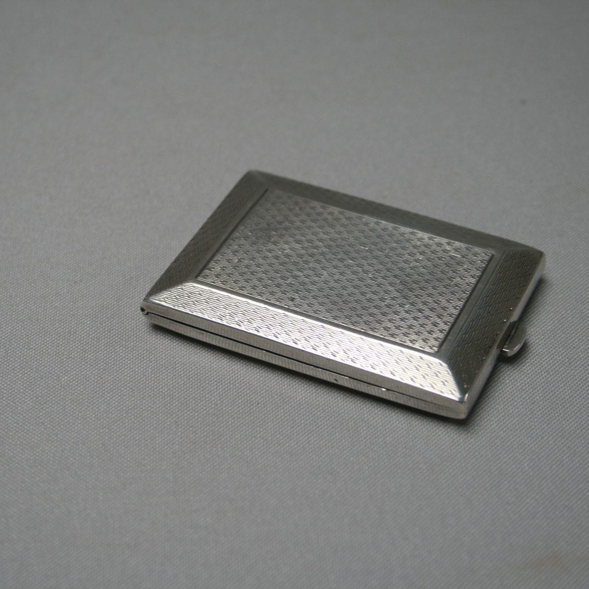 slimline silver matchbox case