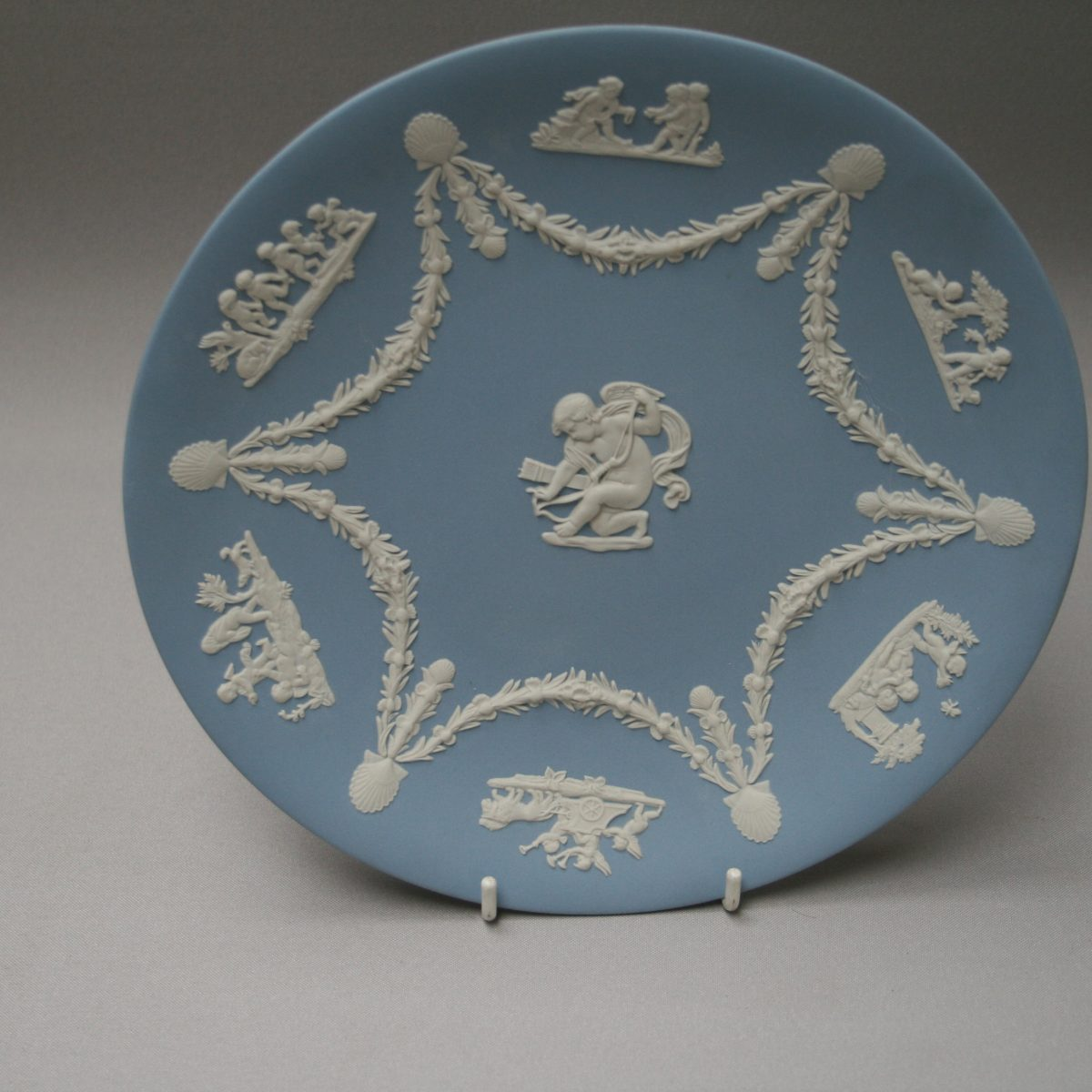 A large Pale blue Jasperware plate by Wedgwood/williamsantiques