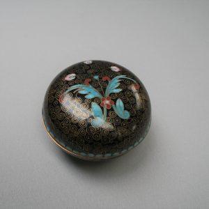 round cloisonne trinket box/williamsantiques