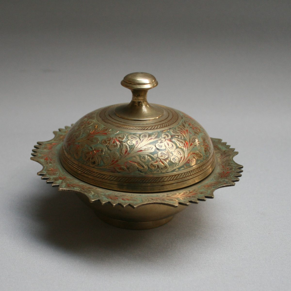 Kasmiri brass trinket/williamsantiques