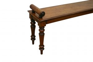 Mahogany window seat or hall bench/williamsantiques
