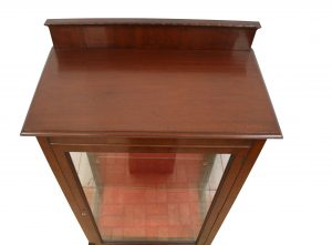 Edwardian mahogany display cabinet/williamsantiques