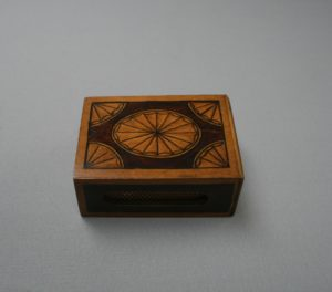 wooden matchbox cover/williamsantiques
