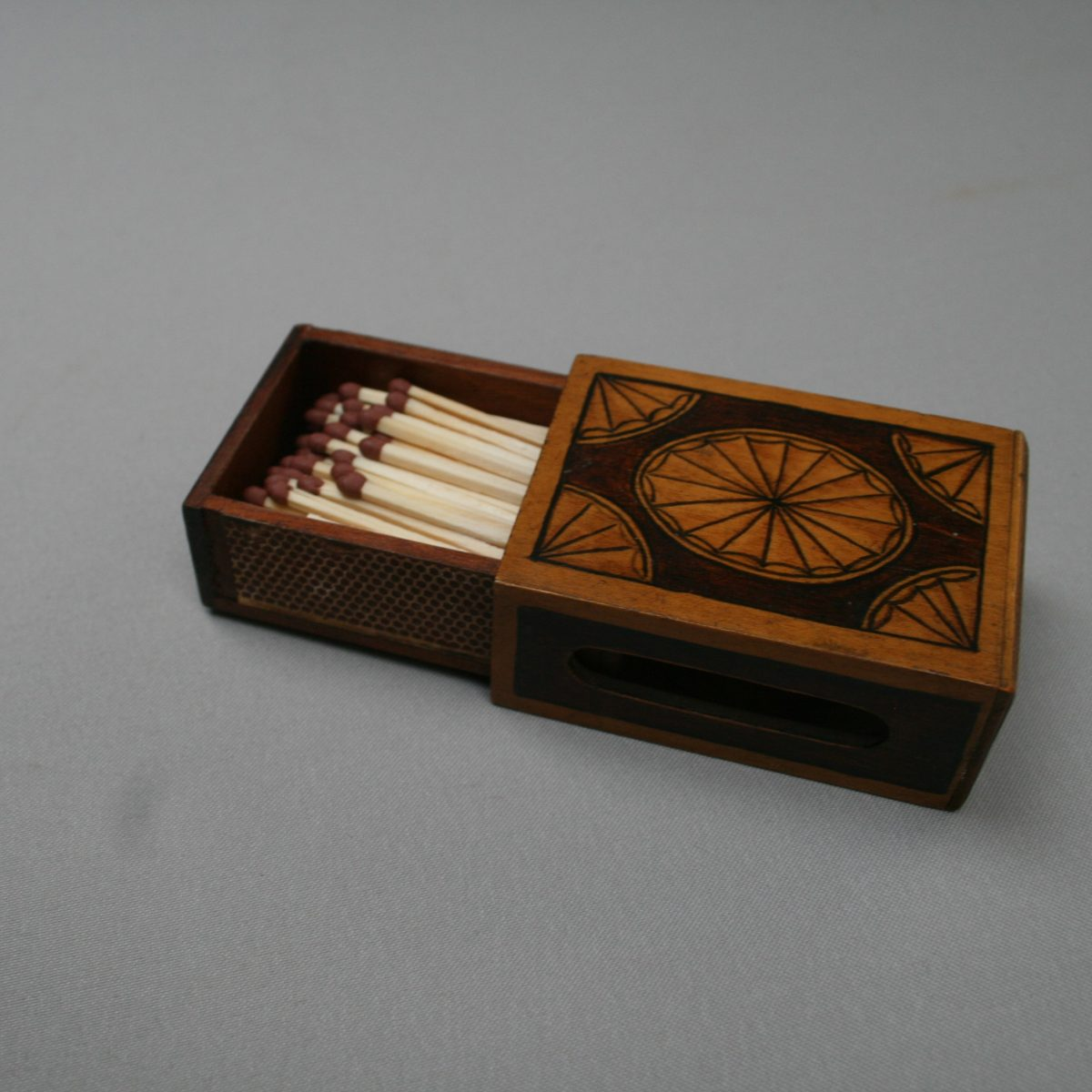 wooden matchbox cover/williamsantiques