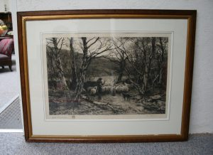 copperplate etching by Frederick Slocombe from an original painting by Joseph Farquharson/williamsantiques