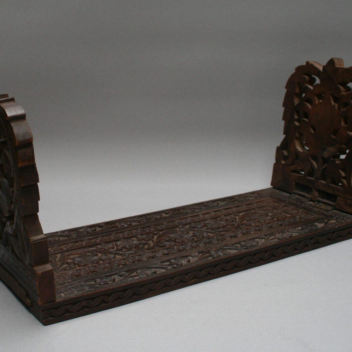 wooden book rack with adjustable slide/williamsantiques
