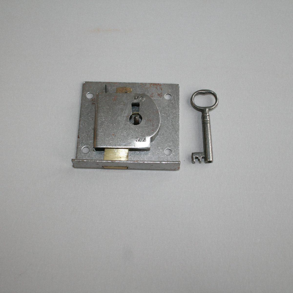 antique steel drawer lock/williamsantiques