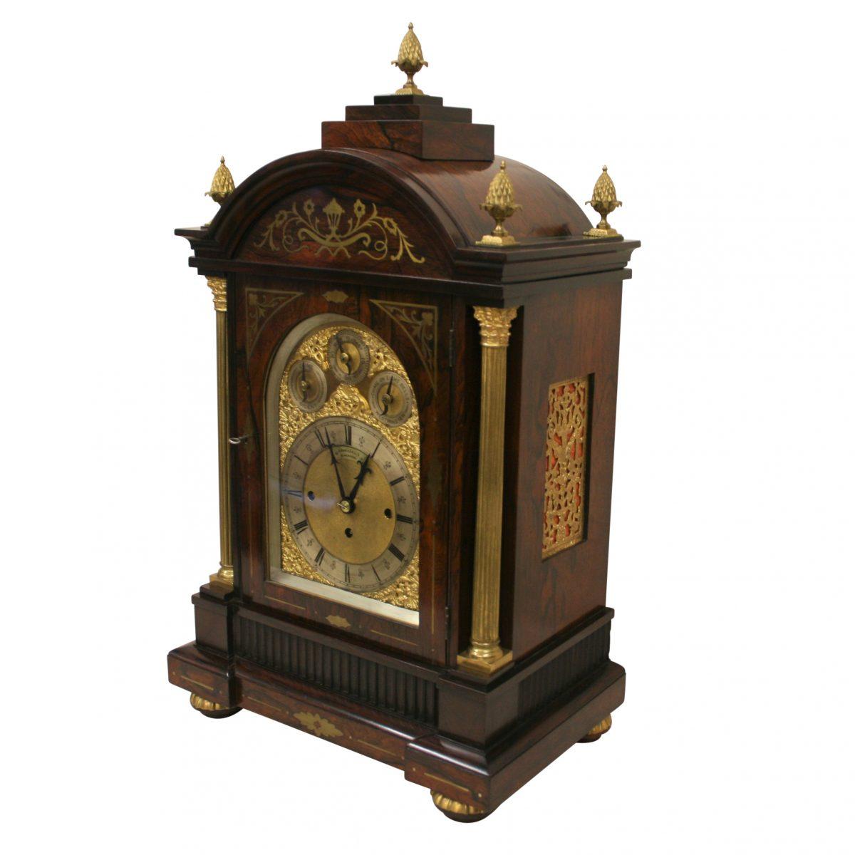 Victorian Rosewood boardroom bracket clock/williamsantiques