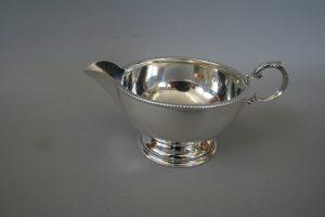 silver bead rim cream jug/williamsantiques