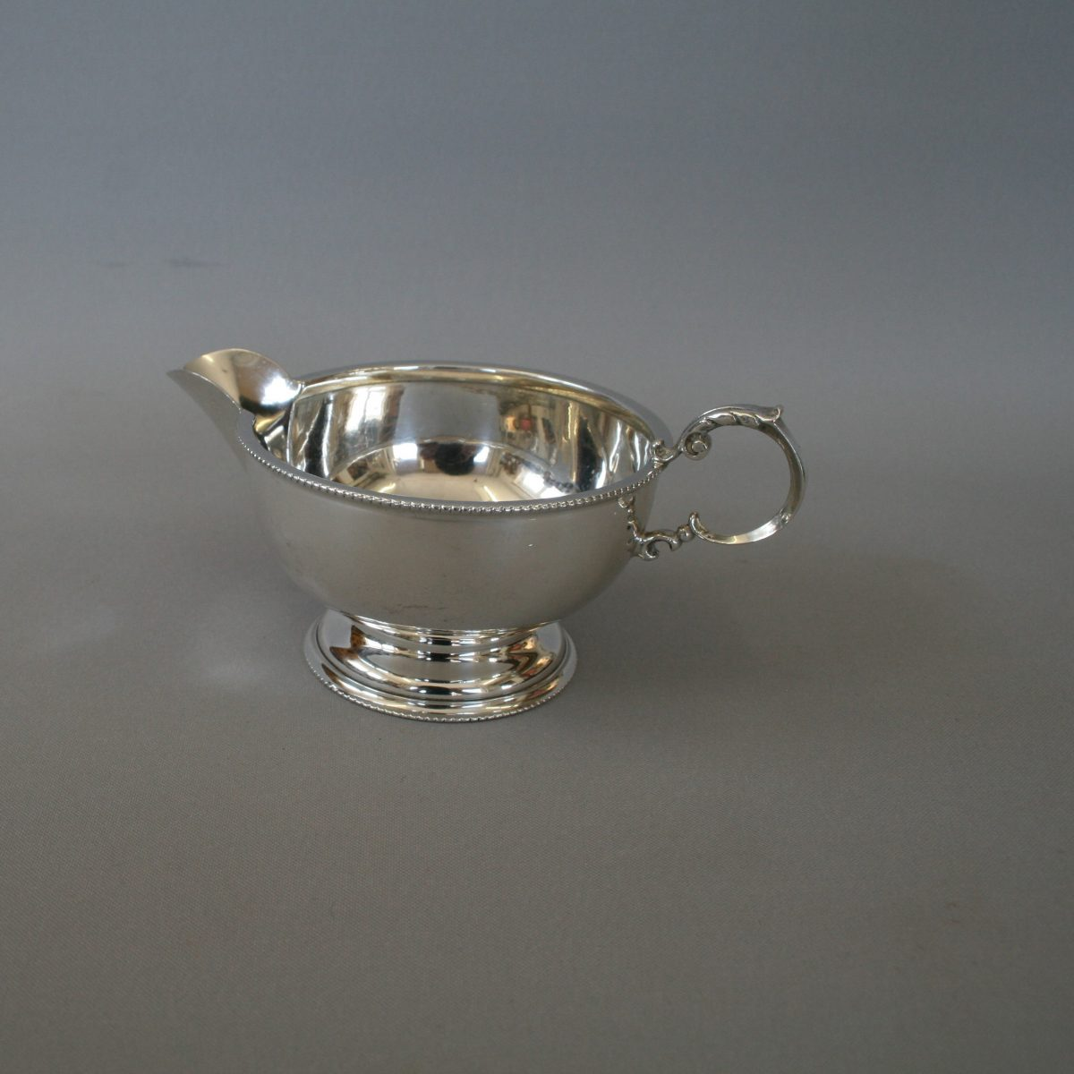 silver bead rim cream jug/williamsantiques