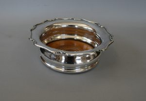 Victorian silver plated wine coaster/williamsantiques